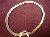 Gold Serpentine Bracelet 14K Yellow Gold 3.6dwt